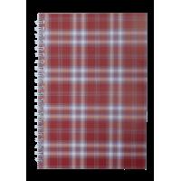 Блокнот Шотландка А5, 48 листов (верхняя спираль) клетка, бордовый