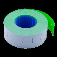 Цінник прямокутний, внутрішня намотка 22х12мм (зелений) 1000шт./12м