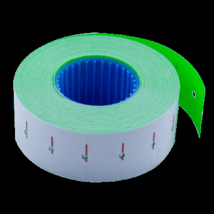 Ценник прямоугольный, внутреняя намотка 22х12мм (зеленый) 1000шт./12м