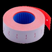 Ценник прямоугольный, внутреняя намотка 22х12мм (красный) 1000шт./12м