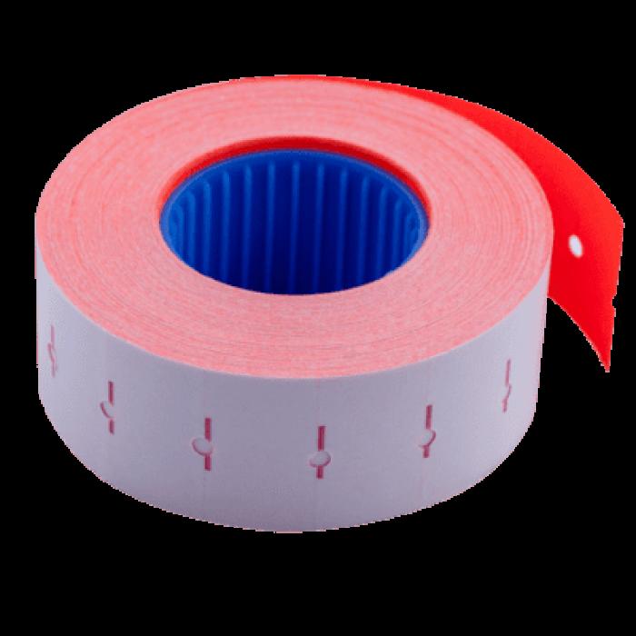 Цінник прямокутний, внутрішня намотка 22х12мм (червоний) 1000шт./12м