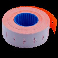 Ценник прямоугольный, внутреняя намотка 22х12мм (оранжевый) 1000шт./12м