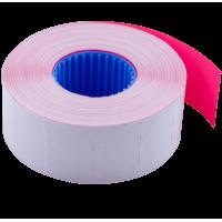 Цінник прямокутний, внутрішня намотка 26х16мм (малиновий) 1000шт./16м.