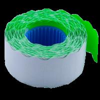 Цінник фігурний, внутрішня намотка 26х12мм (зелений) 1000шт./12м