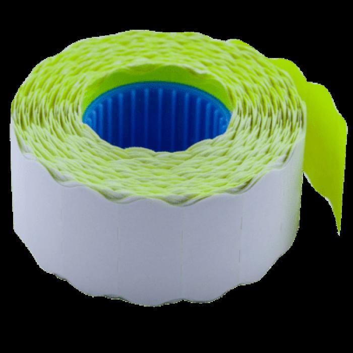 Цінник фігурний, внутрішня намотка 26х12мм (жовтий) 1000шт./12м