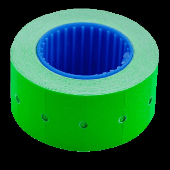 Ценник прямоугольный, внешняя намотка 22х12мм (зеленый) 500шт./6м