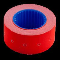 Ценник прямоугольный, внешняя намотка 22х12мм (красный) 500шт./6м