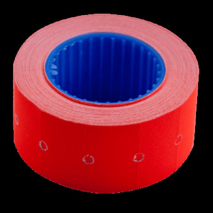 Цінник прямокутний, зовнішня намотка 22х12мм (червоний) 500шт./6м