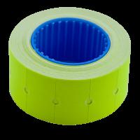 Ценник прямоугольный, внешняя намотка 22х12мм (желтый) 500шт./6м