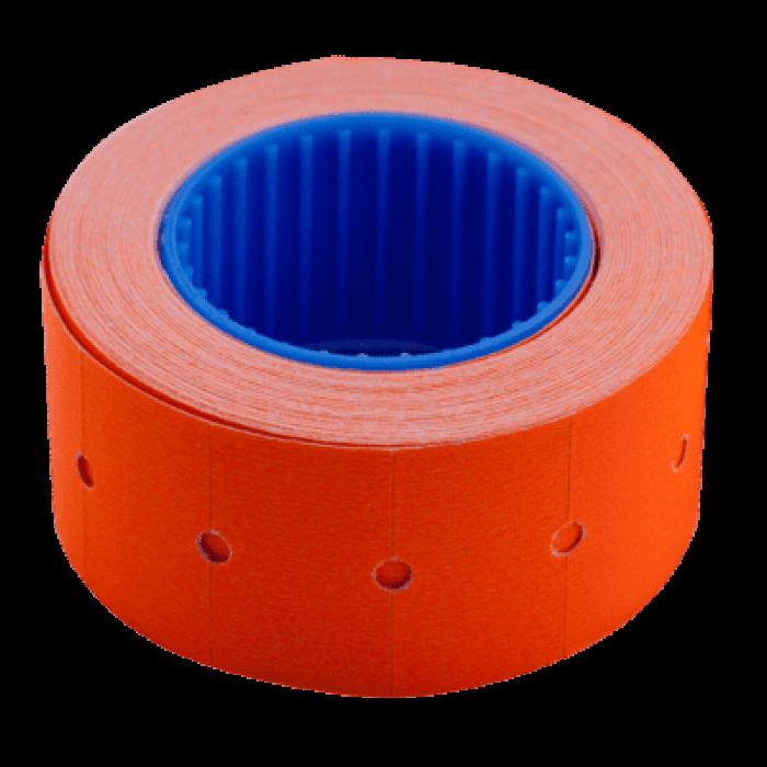 Ценник прямоугольный, внешняя намотка 22х12мм (оранжевый) 500шт./6м