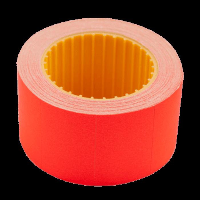 Цінник прямокутний, зовнішня намотка 30х20мм (червоний) 300шт./6м