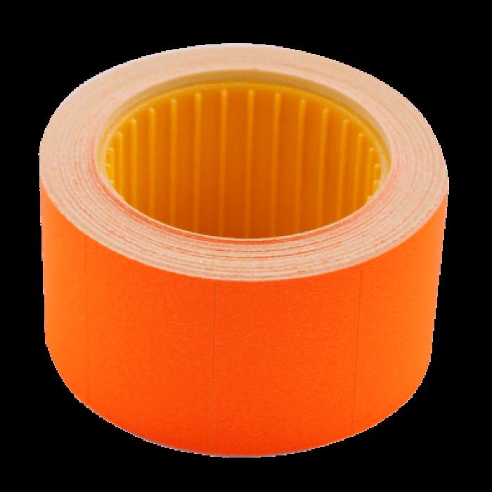 Цінник прямокутний, зовнішня намотка 30х20мм (помаранчевий) 300шт./6м