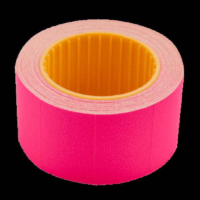 Цінник прямокутний, зовнішня намотка 30х20мм (малиновий) 300шт./6м