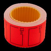 """Цінник прямокутний, зовнішня намотка 35х25мм """"ЦІНА""""(червоний) 240шт./6м"""