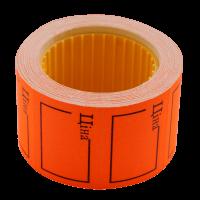 """Цінник прямокутний, зовнішня намотка 35х25мм """"ЦІНА""""(помаранчевий) 240шт./6м"""