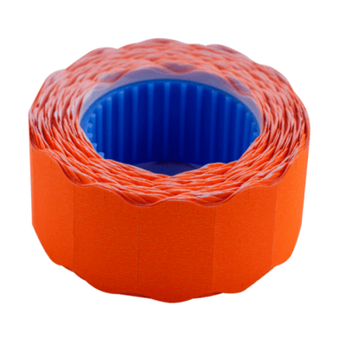 Цінник фігурний, зовнішня намотка 22х12мм (помаранчевий) 500шт./6м