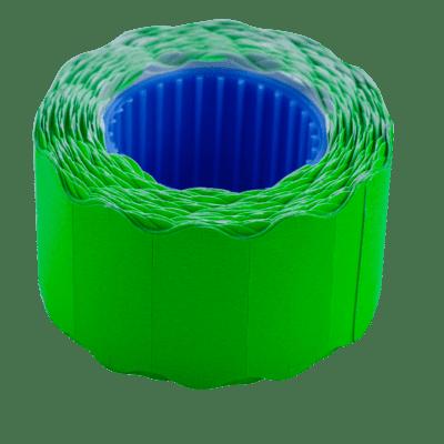 Цінник фігурний, зовнішня намотка 26х12мм (зелений) 500шт./6м