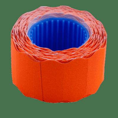 Ценник фигурный, внешняя намотка 26х12мм (оранжевый) 500шт./6м