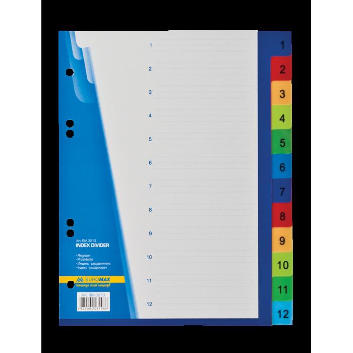 Разделители для регистраторов А5 (позиции 1-12) bm.3213