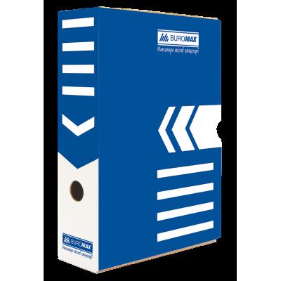 Бокс архивный 297х340х80мм. (синий) bm.3260-02