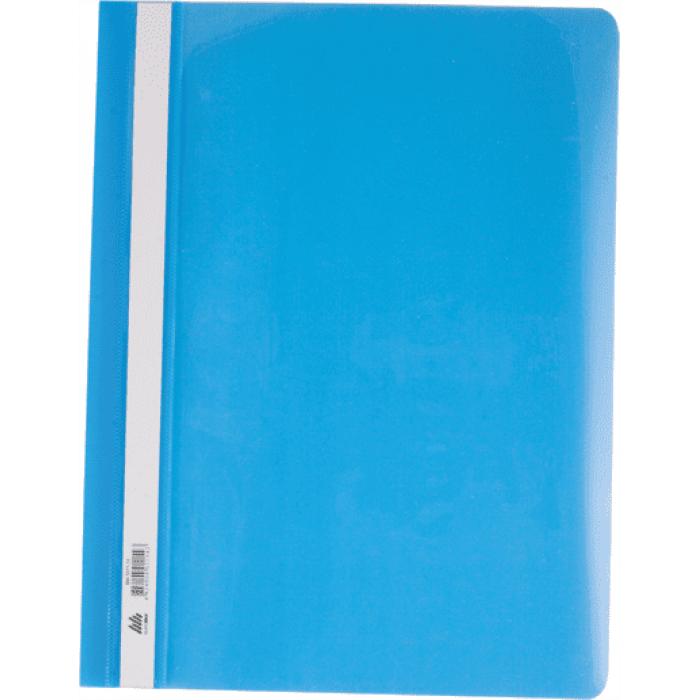 Скоросшиватель А4 с прозрачным верхом (голубой) bm.3311-14