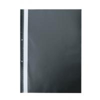 Швидкозшивач А4 з прозорим верхом/2 отвори (чорний) bm.3314-01