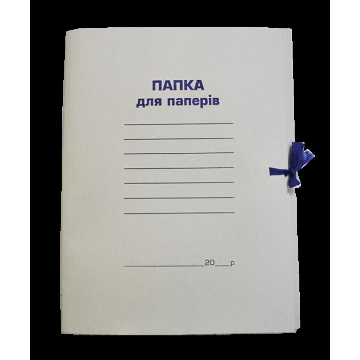Папка на завязках картонная (клееный клапан) А4  bm.3356