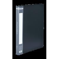 Папка зі швидкозшивачем, А4, гладкий пластик (чорна) bm.3407-01