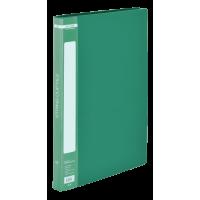 Папка зі швидкозшивачем, А4, гладкий пластик (зелена) bm.3407-04