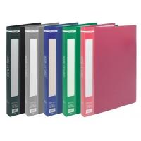 Папка з 20 файлами А4, гладкий пластик (асорті) bm.3606-99