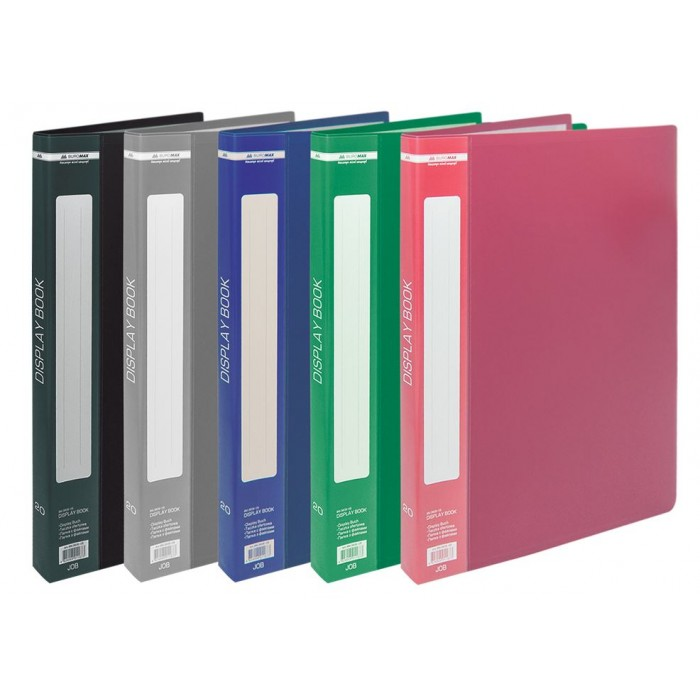 Папка с 20 файлами А4, гладкий пластик (черная) bm.3606-01