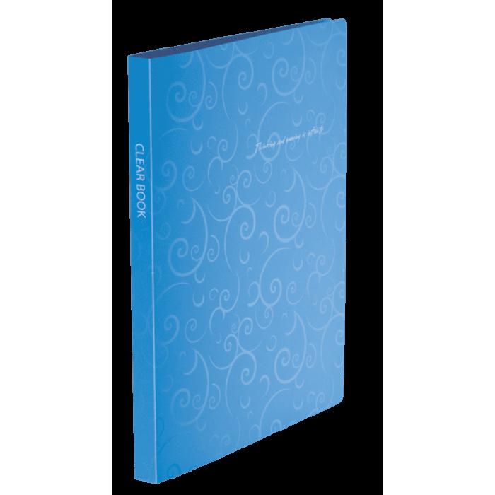 Папка с 20 файлами А4 Barocco голубой  bm.3607-14