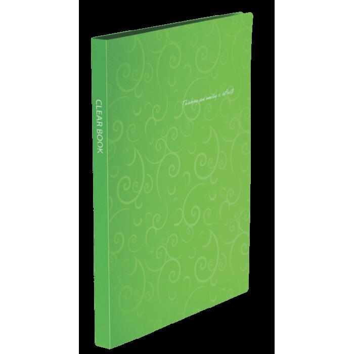 Папка с 20 файлами А4 Barocco салатовый  bm.3607-15