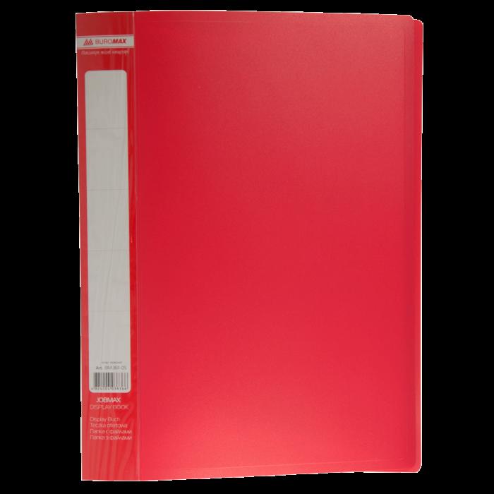 Папка с 30 файлами А4, Jobmax (красный) bm.3611-05