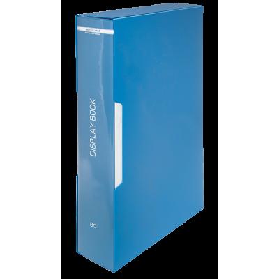 Папка с 80 файлами А4, в пластиковом чехле (синий) bm.3628-02
