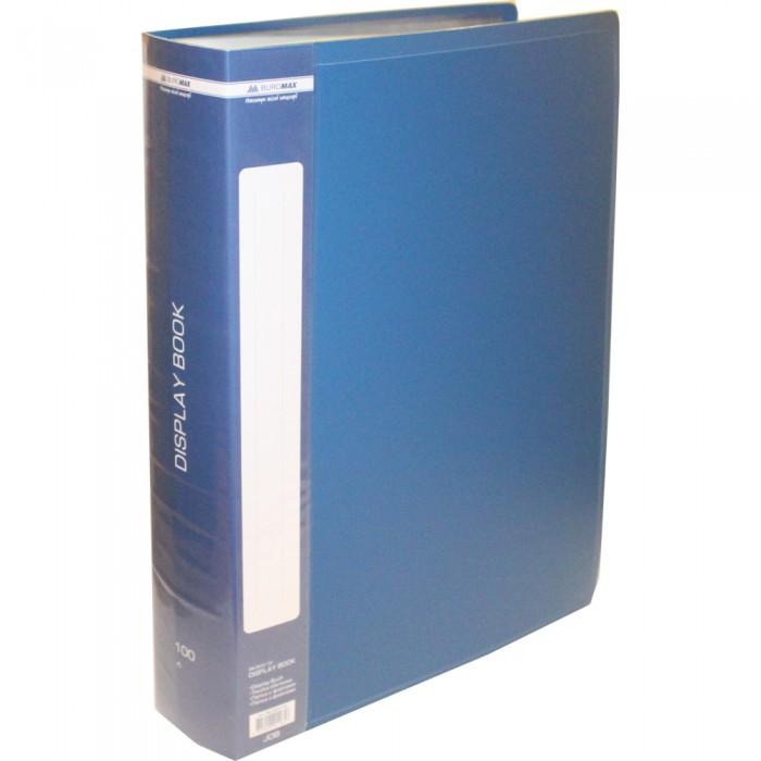 Папка с 100 файлами А4, в пластиковом чехле (синяя) bm.3633-02