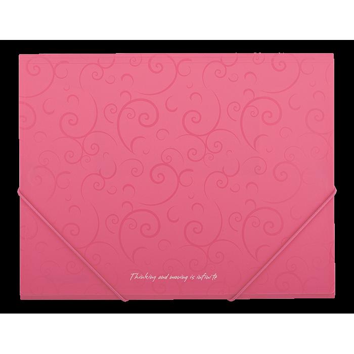 """Папка на резинках А5 """"Barocco"""" (розовый) bm.3902-10"""