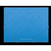 """Папка на резинках А5 """"Barocco"""" (голубой) bm.3902-14"""