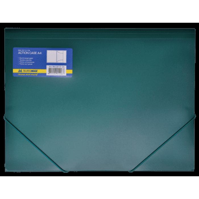 Папка на резинках А4 (зеленая) bm.3913-04