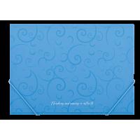 """Папка на резинках А4 """"Barocco"""" (голубой) bm.3914-14"""