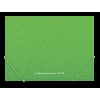 """Папка на резинках А4 """"Barocco"""" (салатовый) bm.3914-15"""