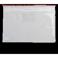 Папка-конверт на молнии прозрачная А4 (красная) bm.3946-05
