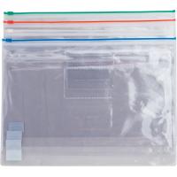 Папка-конверт на блискавці прозора А4 (асорті) bm.3946-99