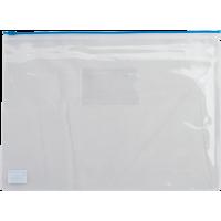 Папка-конверт на блискавці прозора А5 (синя) bm.3947-02