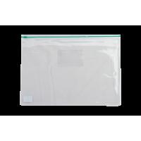 Папка-конверт на блискавці прозора А5 (зелена) bm.3947-04