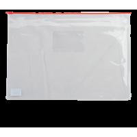 Папка-конверт на молнии прозрачная А5 (красная) bm.3947-05