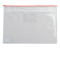 Папка-конверт на блискавці прозора А5 (червона) bm.3947-05