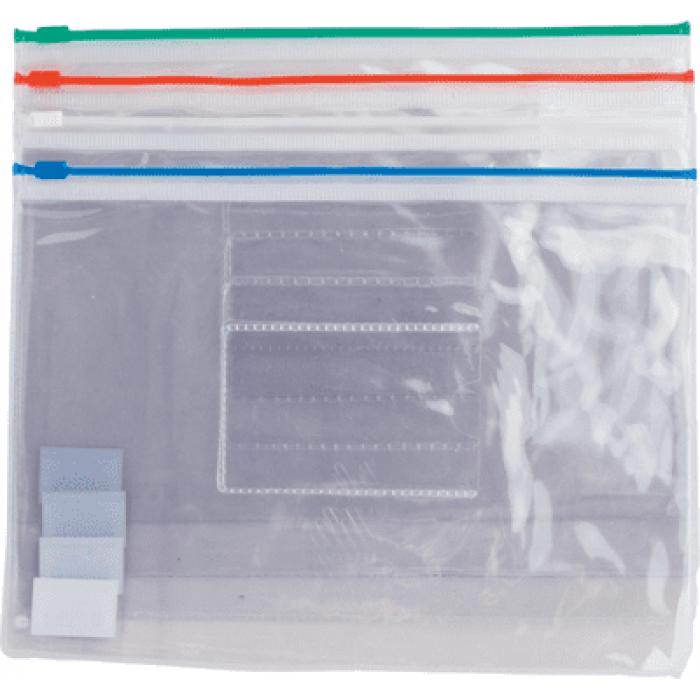 Папка-конверт на молнии прозрачная А5 (ассорти) bm.3947-99