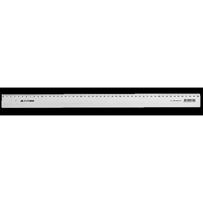 Линейка пластиковая 50см, прозрачная  bm.5826-50