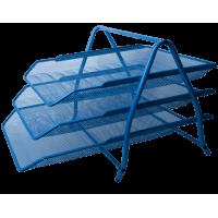 Лоток горизонтальный 3-х ярусный (синий)  bm.6252-02